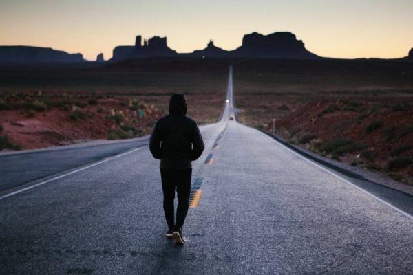 hunger motivation man walking road